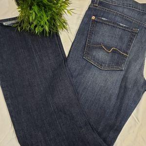 Seven 7 flip flop boot cut jeans denim sz 32 x 31